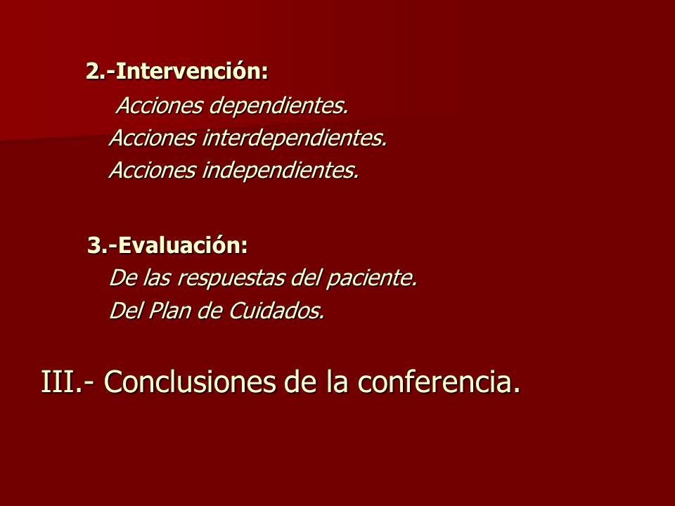 2.-Intervención: 2.-Intervención: Acciones dependientes.