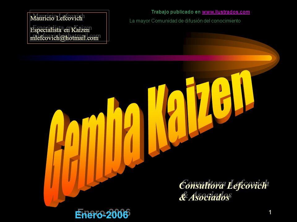 1 Consultora Lefcovich & Asociados Mauricio Lefcovich Especialista en Kaizen mlefcovich@hotmail.com Mauricio Lefcovich Especialista en Kaizen mlefcovi