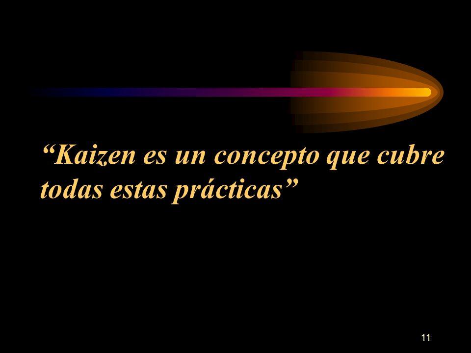 11 Kaizen es un concepto que cubre todas estas prácticas