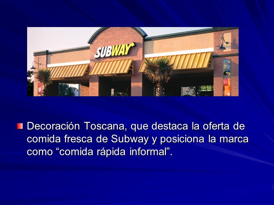 Subway Restaurants Para elevar la oferta de comida sabrosa y saludable de Subway con gráfica y accesorios que transmitieran la idea de frescura y cali