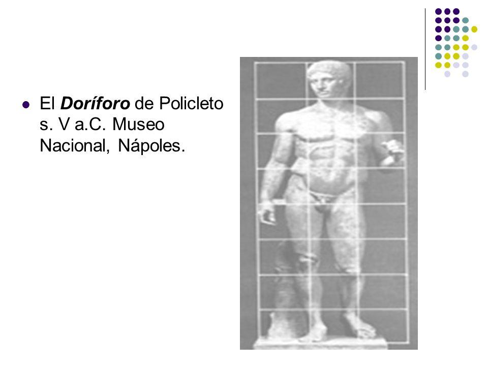 El Doríforo de Policleto s. V a.C. Museo Nacional, Nápoles.