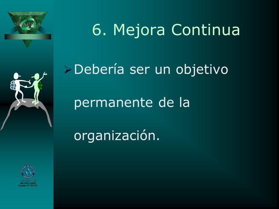 6. Mejora Continua Debería ser un objetivo permanente de la organización.