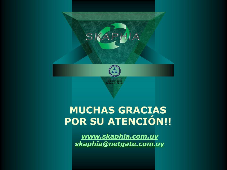 www.skaphia.com.uy skaphia@netgate.com.uy MUCHAS GRACIAS POR SU ATENCIÓN!!
