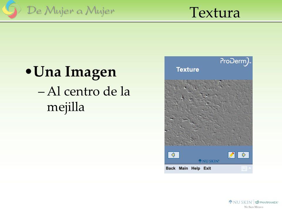 Textura Una Imagen –Al centro de la mejilla