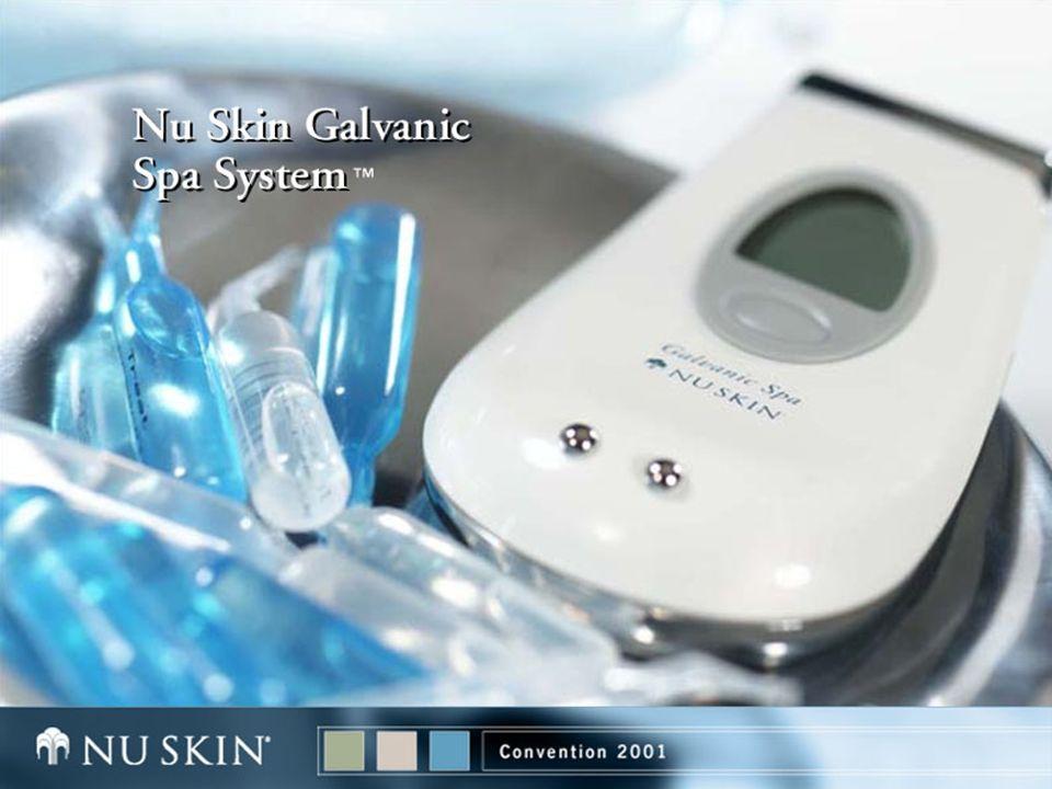 Sistema Nu Skin Galvanic Spa Carga Recargable Conecte a un enchufe Carge por 16 Hrs Inicial Luego Solo 8 Hrs Simbolo de Bateria Baja Requiere Recargar Cargando Completo