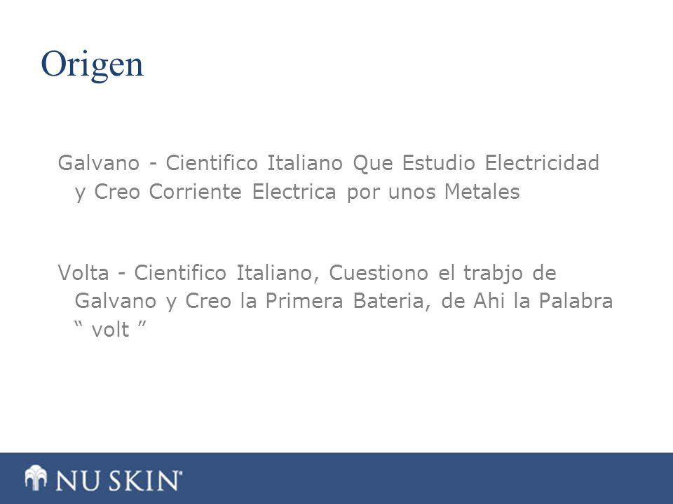 Origen Galvano - Cientifico Italiano Que Estudio Electricidad y Creo Corriente Electrica por unos Metales Volta - Cientifico Italiano, Cuestiono el tr