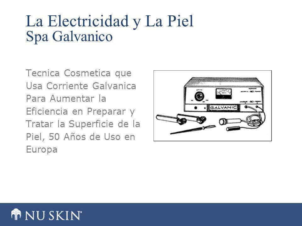 La Electricidad y La Piel Spa Galvanico Tecnica Cosmetica que Usa Corriente Galvanica Para Aumentar la Eficiencia en Preparar y Tratar la Superficie d