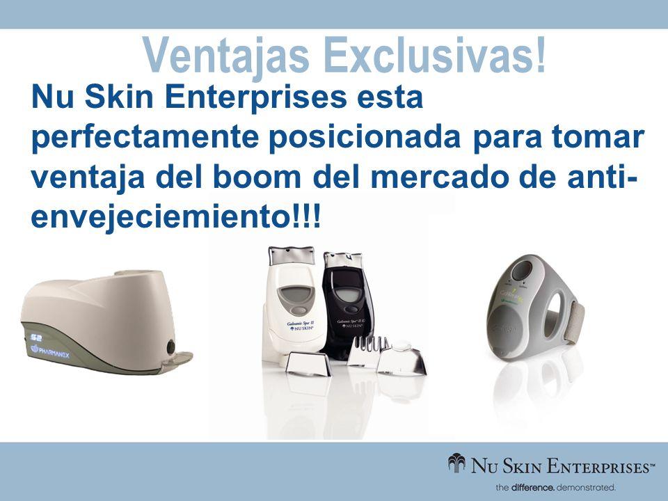 Ventajas Exclusivas! Nu Skin Enterprises esta perfectamente posicionada para tomar ventaja del boom del mercado de anti- envejeciemiento!!!