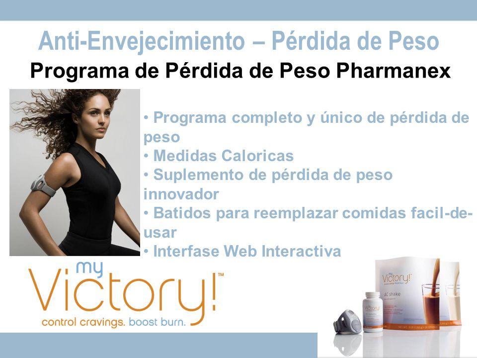 Programa de Pérdida de Peso Pharmanex Programa completo y único de pérdida de peso Medidas Caloricas Suplemento de pérdida de peso innovador Batidos p