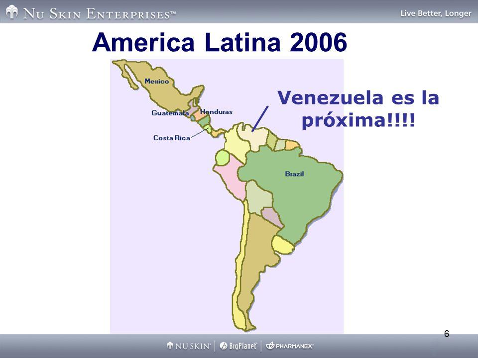 2004 Venezuela Time Line Lanzamiento de Nu Skin en Venezuela Noviembre 2006 Octubre 2006 Diciembre 2006 Mayo 2007 Primer Pre- Market Tour en Venezuela Pre-Market Actividades en Venezuela Nu Skin Apertura Venezuela Oficial!!.