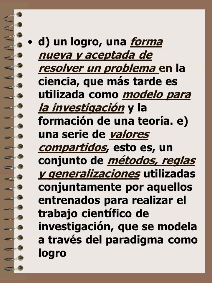 POPKEWITZ: concepciones, costumbres y tradiciones que constituyen reglas de juego que orientan la labor investigadora.