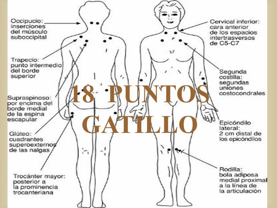 LIMITES DE LOS CRITERIOS DIAGNOSTICOS DEL ACR Según Granges (1993), los pacientes de FM son sensibles a estímulos de dolor en cualquier parte del cuerpo.