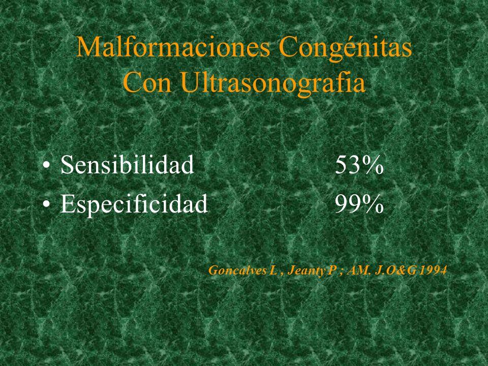 Ultrasonido Screening ( Tamizaje a toda la población ) –Edad gestacional –Crecimiento fetal –Malformaciones –Bienestar fetal Diagnóstico (sospecha clínica)