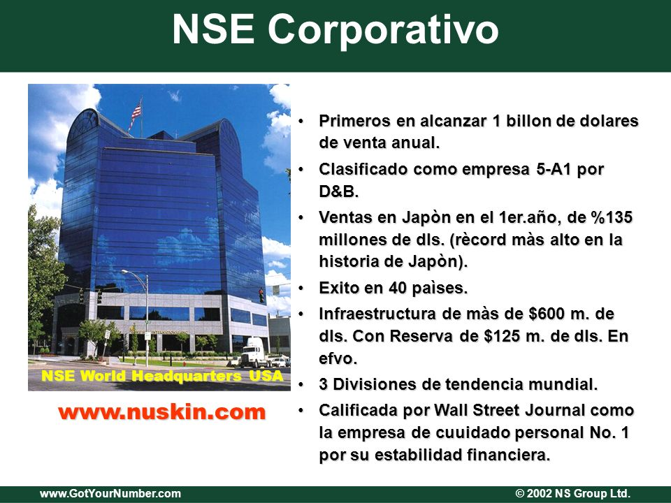 www.GotYourNumber.com © 2002 NS Group Ltd.¡Es Indiscutible.