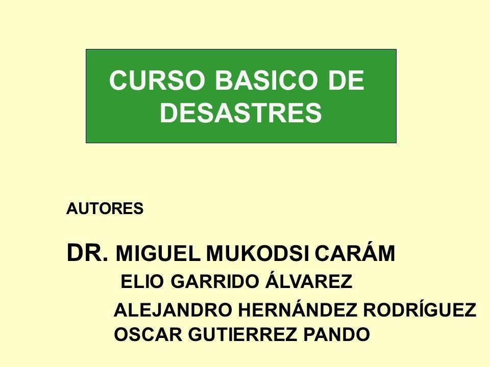 CURSO BASICO DE DESASTRES AUTORES DR. MIGUEL MUKODSI CARÁM ELIO GARRIDO ÁLVAREZ ALEJANDRO HERNÁNDEZ RODRÍGUEZ OSCAR GUTIERREZ PANDO