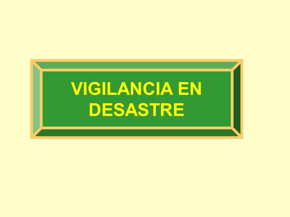 VIGILANCIA EN DESASTRE