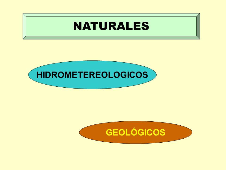 NATURALES HIDROMETEREOLOGICOS GEOLÓGICOS