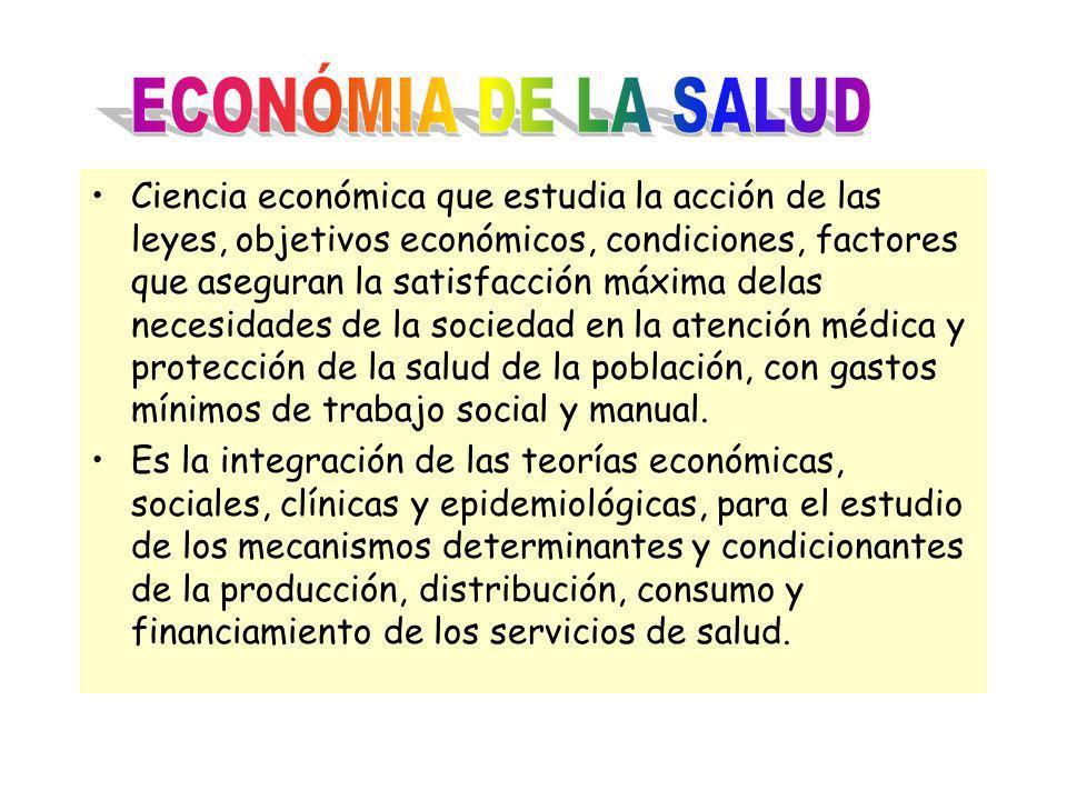 Ciencia económica que estudia la acción de las leyes, objetivos económicos, condiciones, factores que aseguran la satisfacción máxima delas necesidade