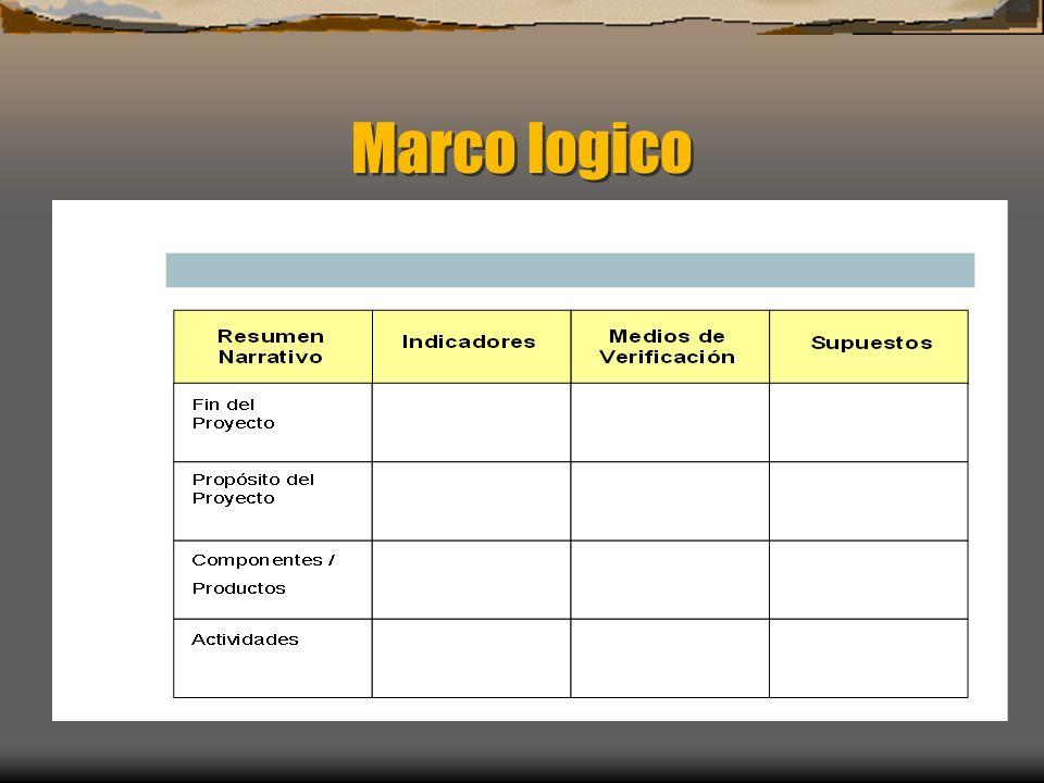 Marco logico