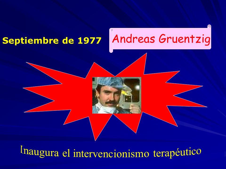 Septiembre de 1977 Andreas Gruentzig