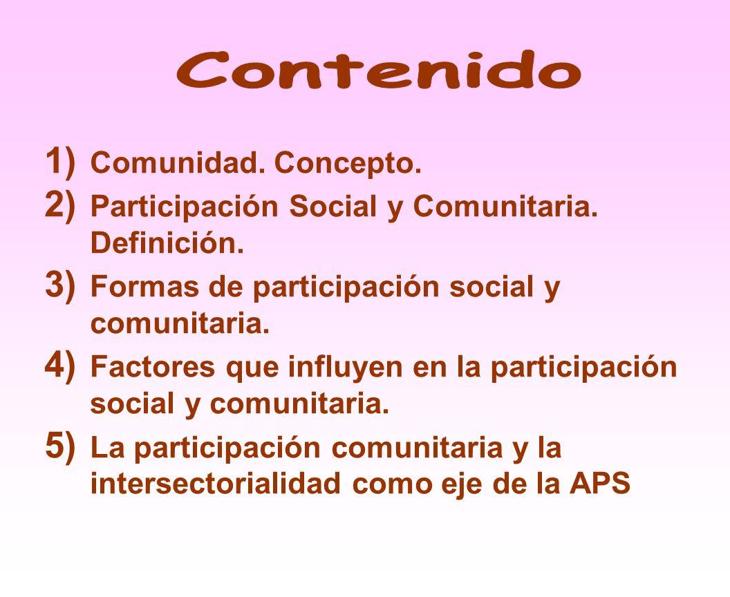 Actividad que facilita la participación conjugada entre el sector salud y los miembros de la comunidad como modalidad participativa.