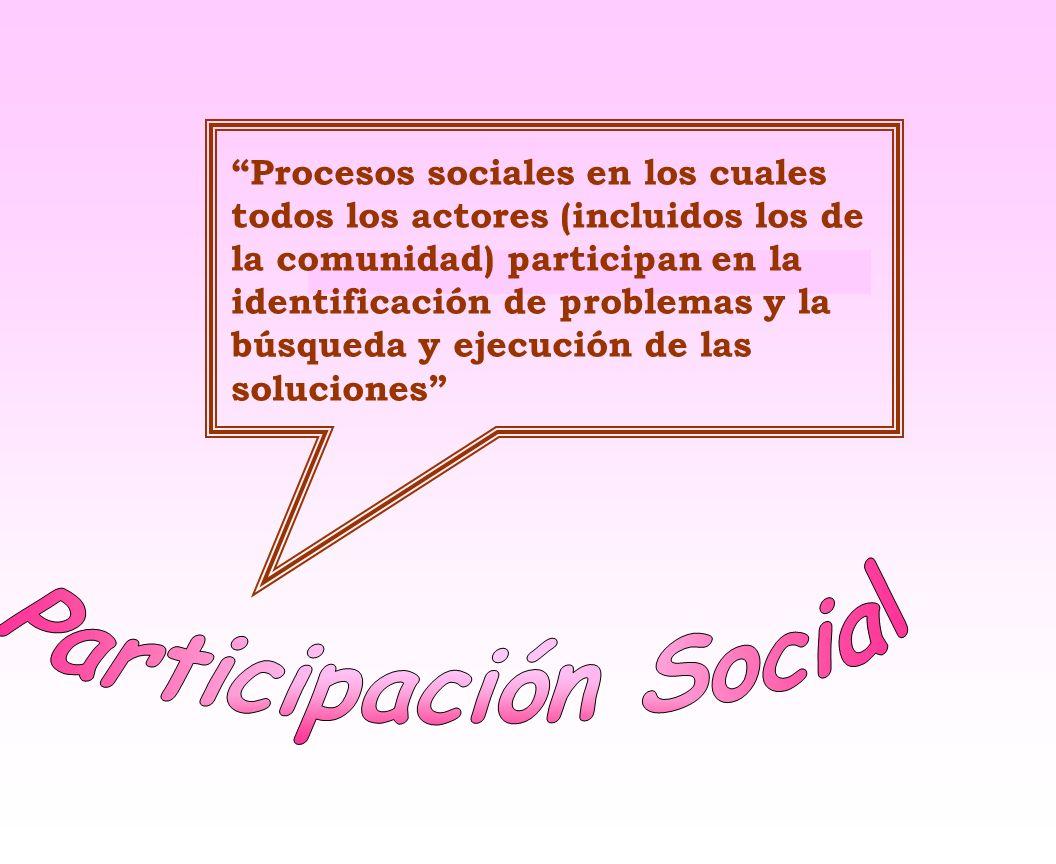 Mecanismos: Mecanismos: Organizaciones que permitan a los miembros de la Comunidad reunirse y llevar a cabo acciones colectivas en vez de actuar como individuos aislados.