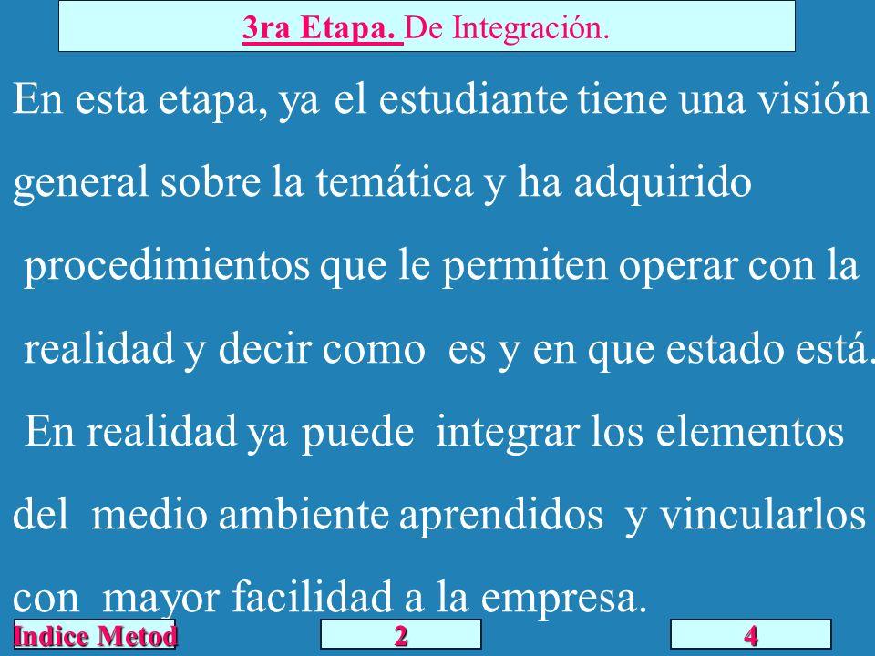 4ta Etapa.De Análisis – Diseño y ejecución.