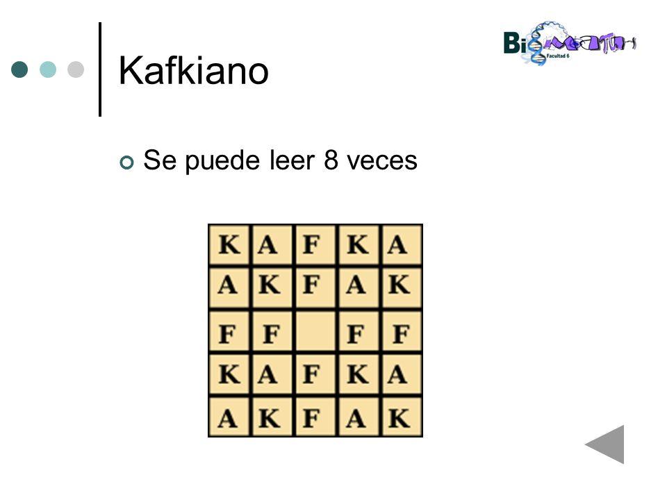Kafkiano Se puede leer 8 veces