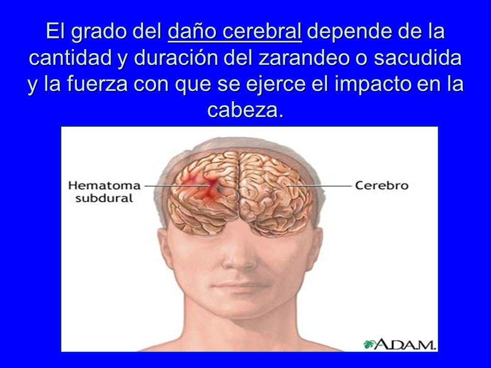 Serie de signos y síntomas causados por una sacudida y/o impacto violento en la cabeza del niño pequeño. Se presenta en niños menores de 2 años, pero