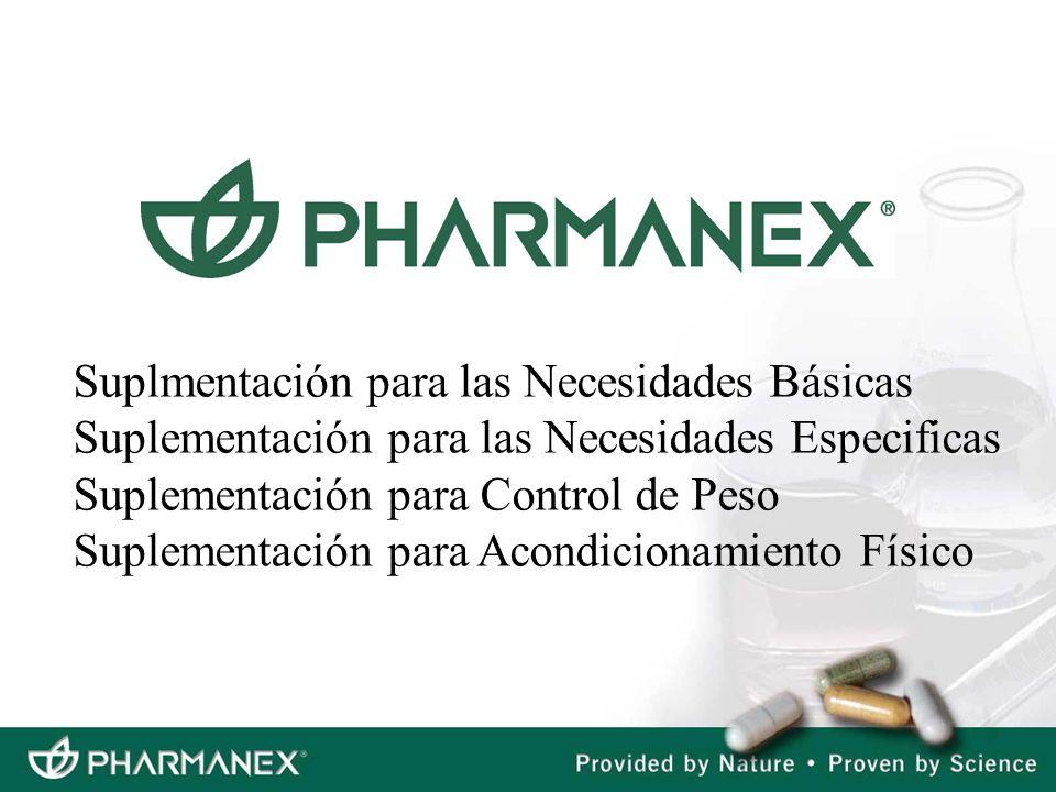 Suplmentación para las Necesidades Básicas Suplementación para las Necesidades Especificas Suplementación para Control de Peso Suplementación para Aco