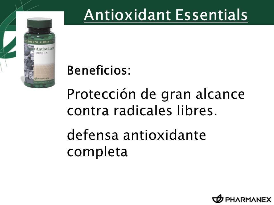Antioxidant Essentials Beneficios: Protección de gran alcance contra radicales libres. defensa antioxidante completa
