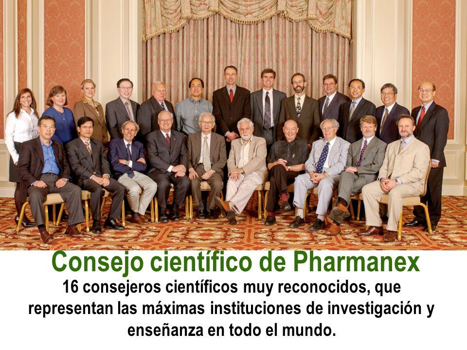 Consejo científico de Pharmanex 16 consejeros científicos muy reconocidos, que representan las máximas instituciones de investigación y enseñanza en t