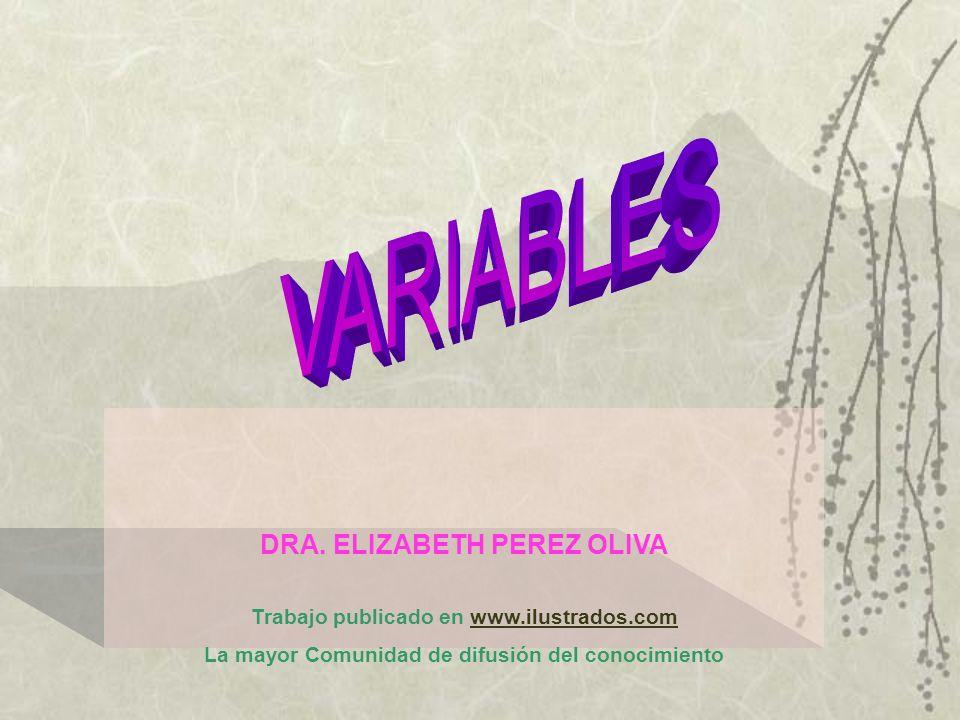 DRA. ELIZABETH PEREZ OLIVA Trabajo publicado en www.ilustrados.comwww.ilustrados.com La mayor Comunidad de difusión del conocimiento