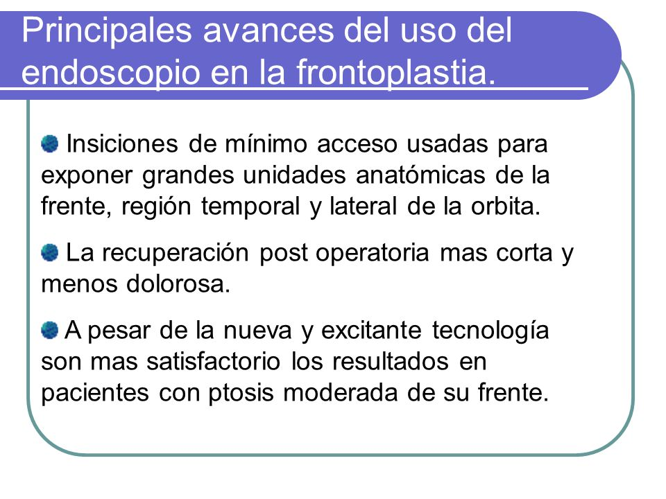 Instrumental para Endoscopia Facial
