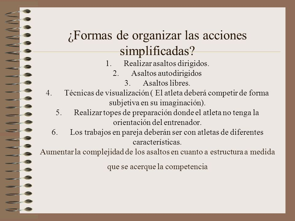 ¿ Como orientar la preparación táctica en la unidad de entrenamiento? El entrenamiento táctico debe de estar dirigido en dos aristas fundamentales. En