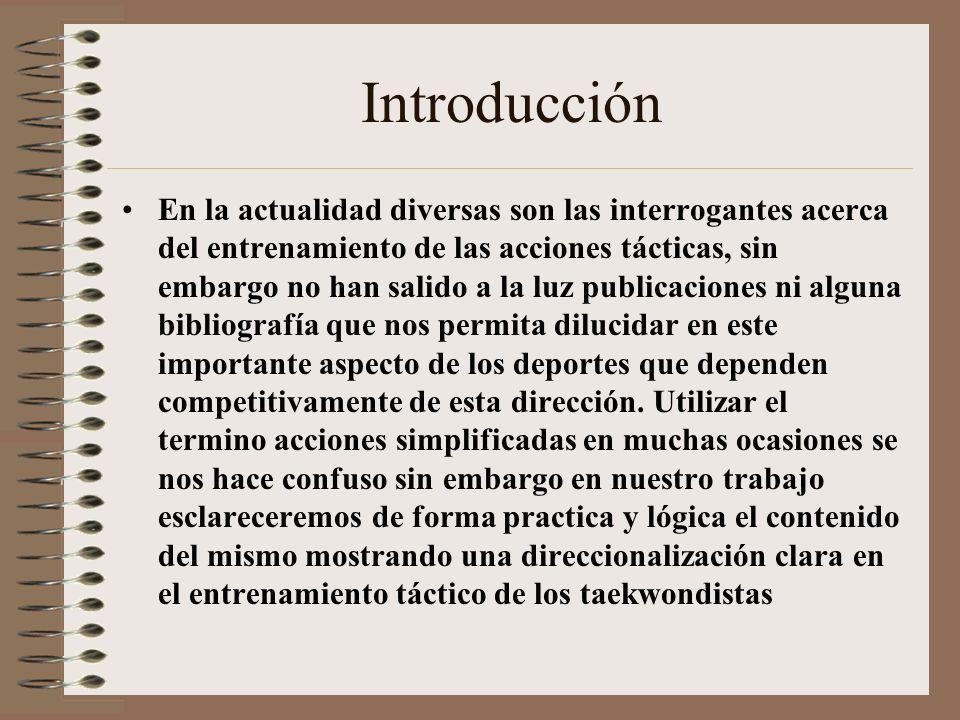 Titulo: Las acciones simplificadas competitivas en el taekwondo Autores: Lic. Arlen Manuel González Núñez. DrC. Calixto Andux Dechapellez e-mail:tkdla