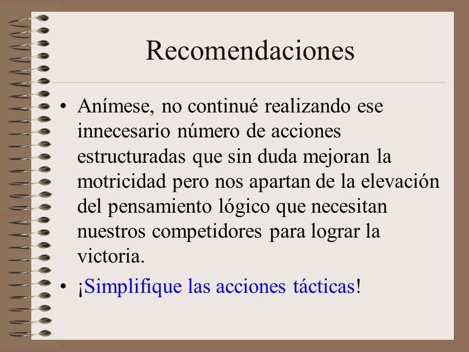 Conclusiones. Las acciones simplificadas en el taekwondo conllevan a elevar el rendimiento táctico de los competidores. El entrenamiento simplificado