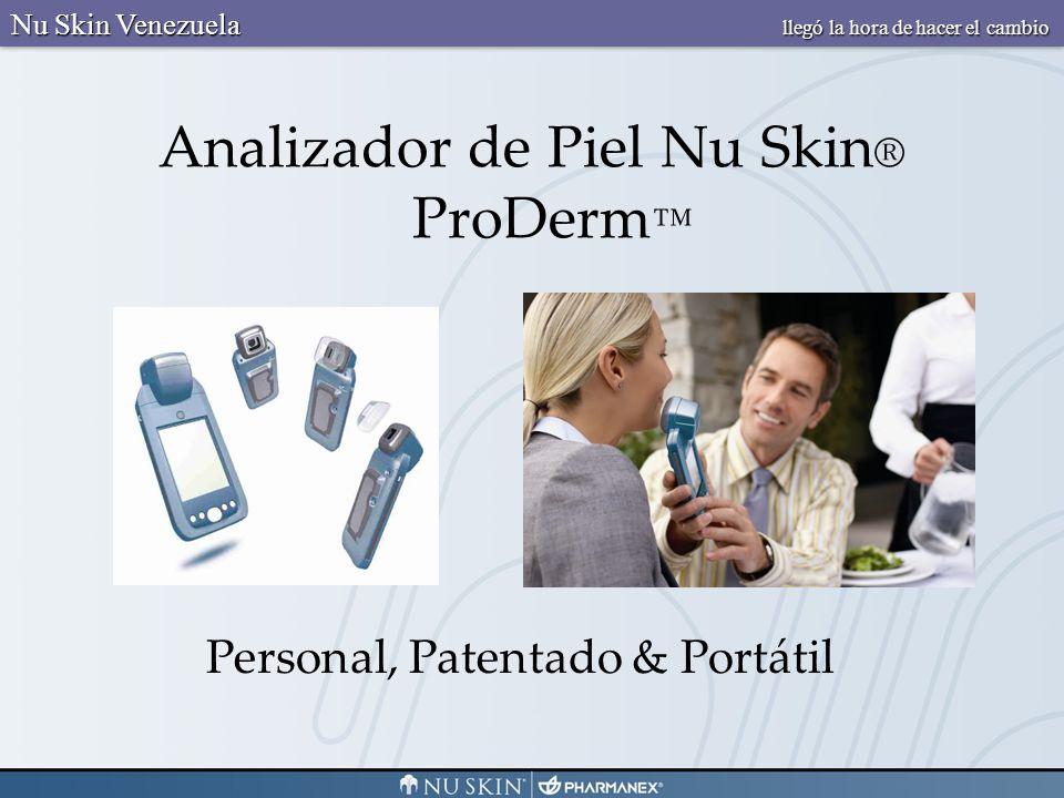 Analizador de Piel Nu Skin ® ProDerm Personal, Patentado & Portátil Nu Skin Venezuela llegó la hora de hacer el cambio