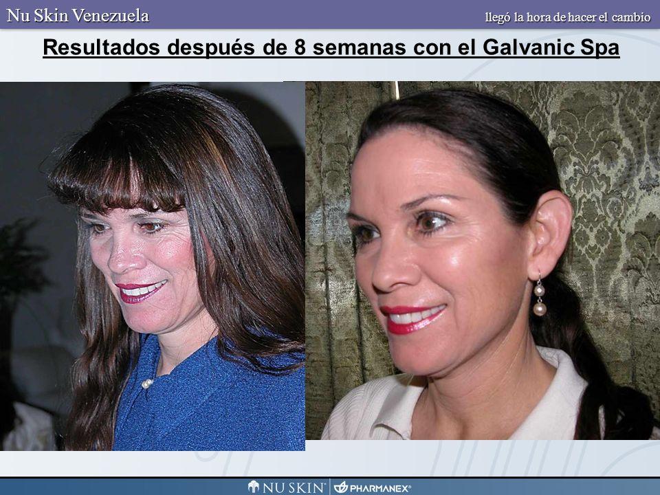 Resultados después de 8 semanas con el Galvanic Spa Nu Skin Venezuela llegó la hora de hacer el cambio