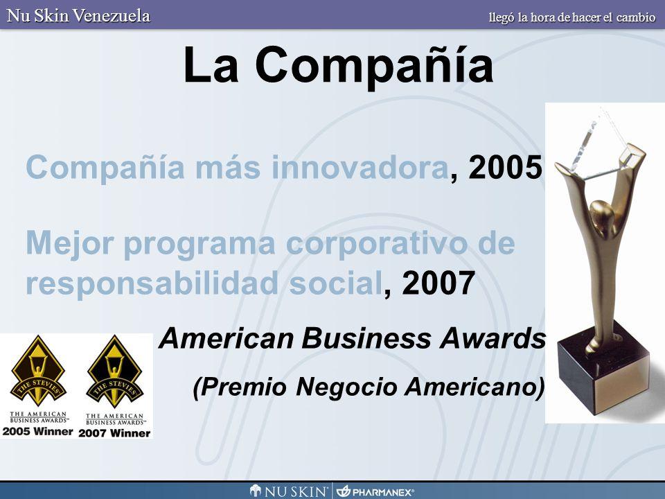 Compañía más innovadora, 2005 Mejor programa corporativo de responsabilidad social, 2007 American Business Awards (Premio Negocio Americano) La Compañ