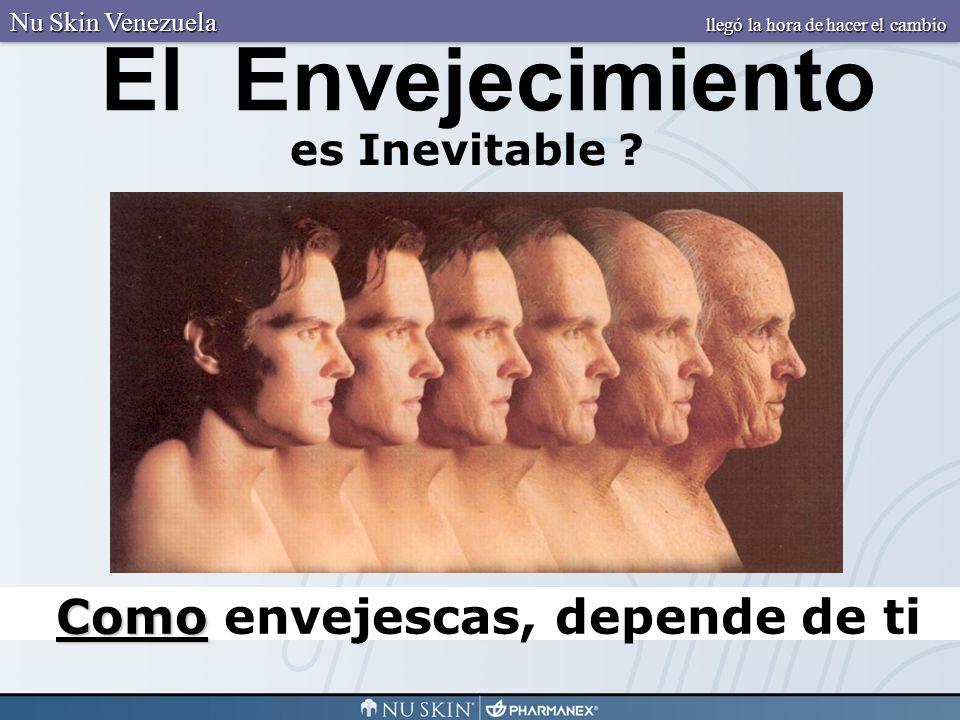 Como Como envejescas, depende de ti es Inevitable ? El Envejecimiento Nu Skin Venezuela llegó la hora de hacer el cambio