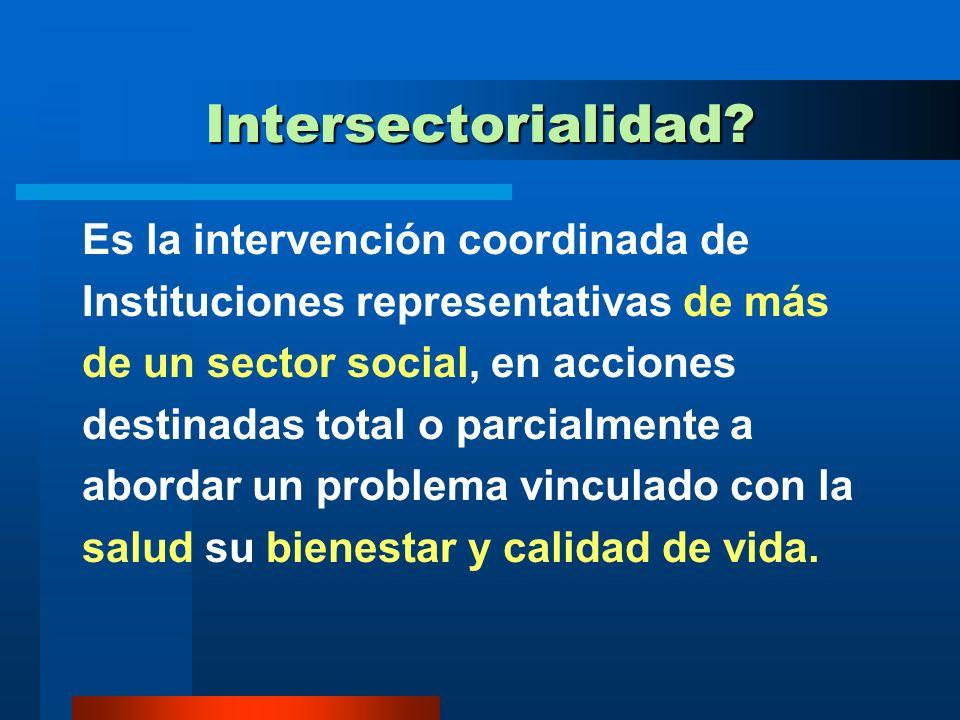 PREGUNTAS SOBRE INTERSECTORIALIDAD Que es la intersectorialidad Porqué es necesaria Cuales son los factores que inciden en su aplicación