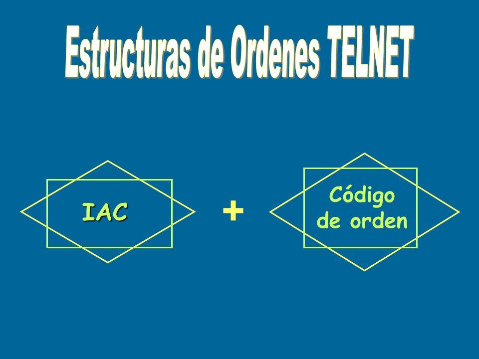 + IAC Código de orden