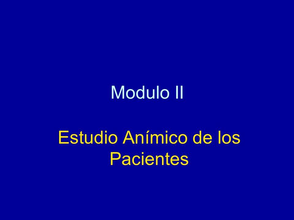 Modulo II Estudio Anímico de los Pacientes
