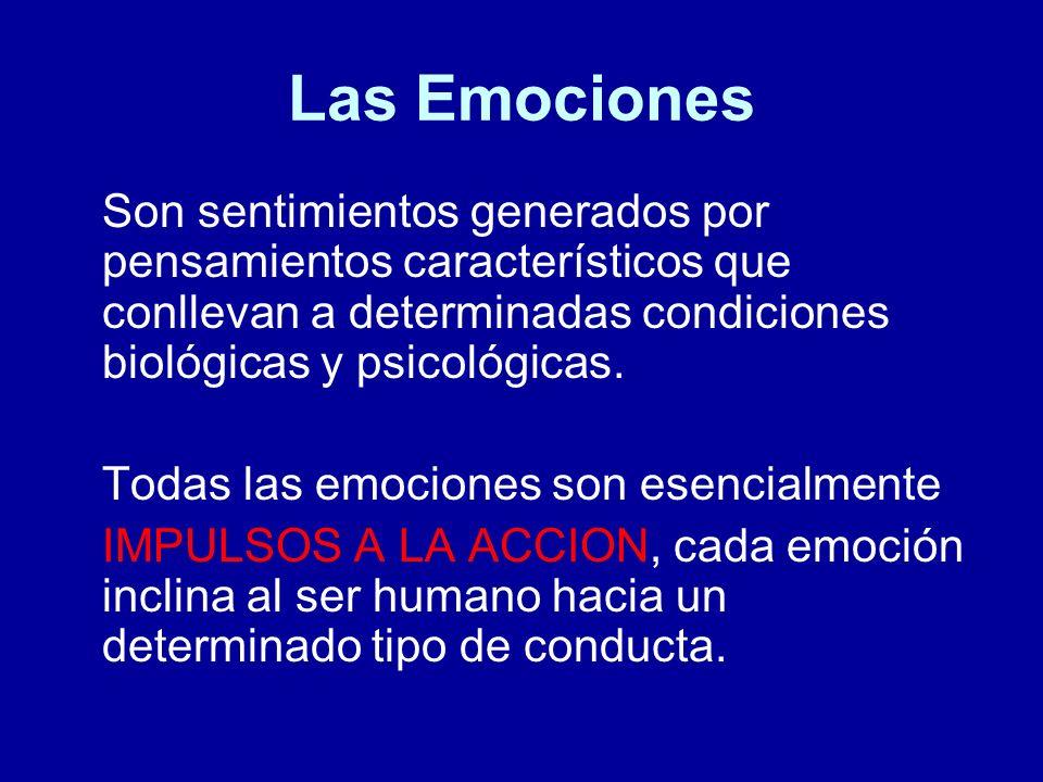 Las Emociones Son sentimientos generados por pensamientos característicos que conllevan a determinadas condiciones biológicas y psicológicas. Todas la