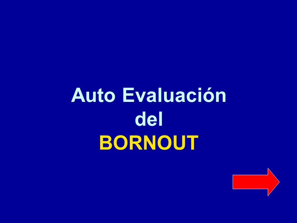 Auto Evaluación del BORNOUT