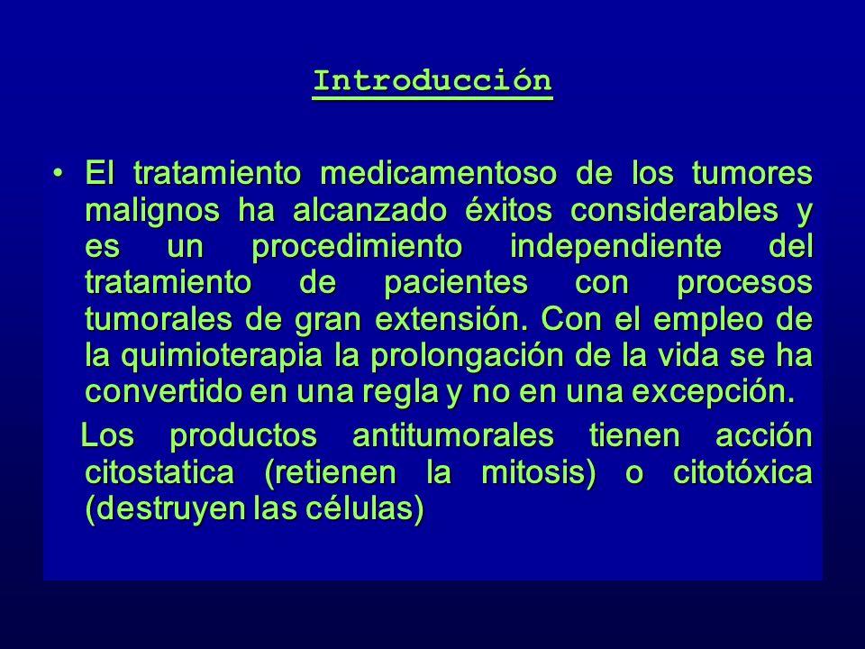 Introducción El tratamiento medicamentoso de los tumores malignos ha alcanzado éxitos considerables y es un procedimiento independiente del tratamient