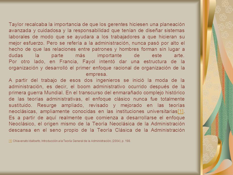 Es importante destacar que el Enfoque neoclásico se basa en los siguientes aspectos: ] Harold Koontz y Cyril O Donnell, Principios de Administración un Análisis de las Funciones Administrativas, Sao Paulo, Libraría Pioneira Editora, 1976,pp.34-35.