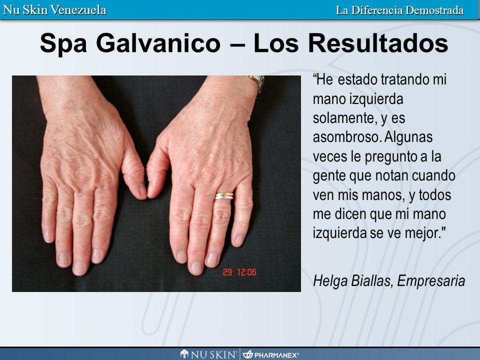 Galvanic Spa – Los Resultados Después de un tratamiento con el Spa Galvanico Nu Skin Venezuela La Diferencia Demostrada
