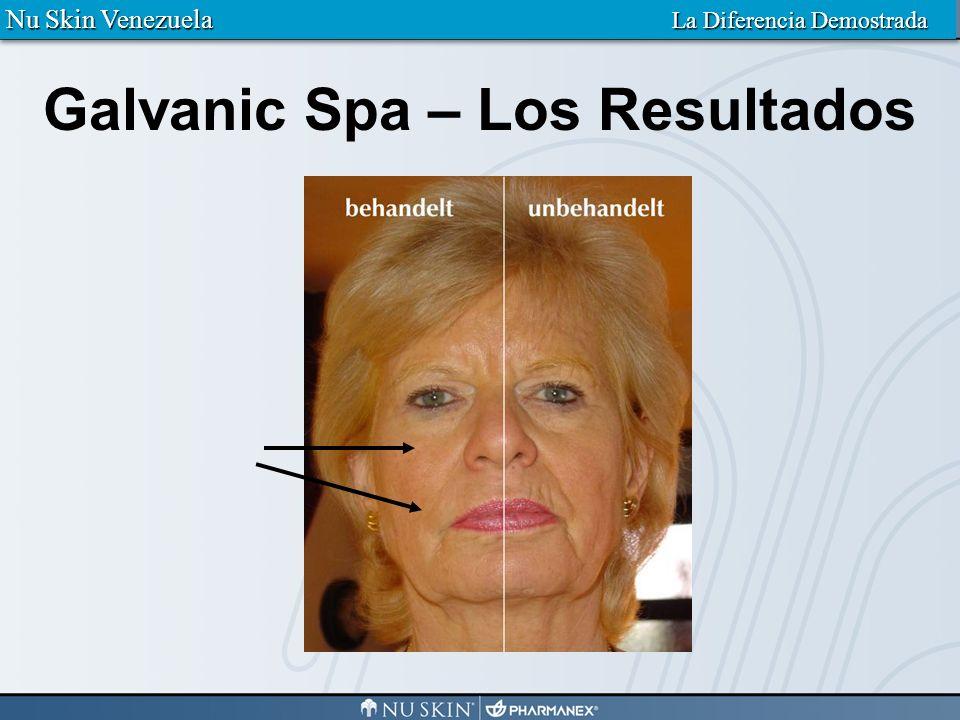 Resultados después de 8 semanas con el Galvanic Spa Nu Skin Venezuela La Diferencia Demostrada